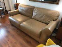 Large comfortable leather sofa.