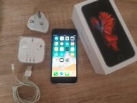 IPhone 6s silver on EE with box 32 GB