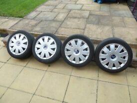 4 off Ford Fiesta wheel & tyres.