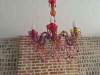 Gypsy Style Multicoloured Chandelier / Ceiling Light