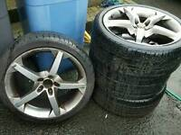 18 Alloy wheels with good tyres VW