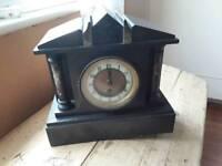 Vintage slate / marble mantle clock