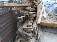 FREE FIRE WOOD FOR LOG BURNER, FIRE PIT ETC, USED DECKING BOARDS AND JOISTS, MUST COLLECT
