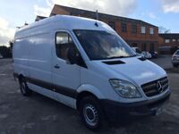 Mercedes sprinter van 313 cdi mwb high roof 2008 model drives excellent well serviced new engine
