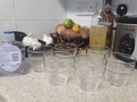 A set of 6 breakfast juice glasses