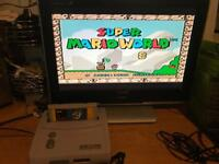 Snes Super Nintendo Console & marioworld game