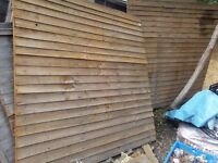 Fencing 2 nos 6x6 wooden good conditon 10 quids ( shop price 20 quids)