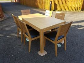 New Bently Designs Oak Dining Table & 6 Chairs FREE DELIVERY 653