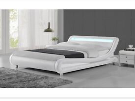Brand New Kingsize Bed Frame with LED Headboard and Mattress