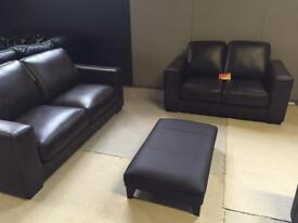 3 X 2 BROWN LEATHER SET