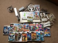 Wii Console, Wii Fit, Controllers and Games Bundle
