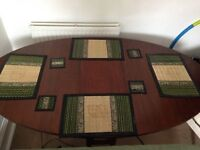 Folding Extendable Wooden Dining Table