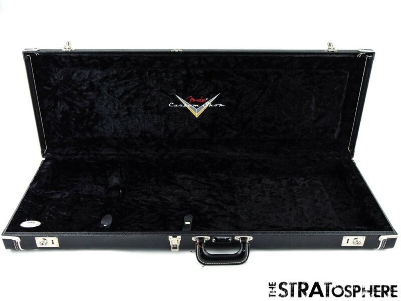 Fender Custom Shop Strat Tele Vintage Black Tolex HARDSHELL CASE Used