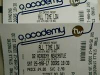 All Time Low Gig tickets