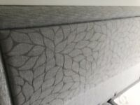 Super King Divan and Headboard in Grey with four draws for storage