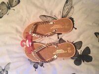 Brand new gold twist sandals size 6