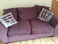 2 X two seater lilac sofas, good condition