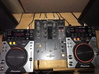 CDJ 400 x 2, DJM 400, Pulse Active50-bl x 2, All Cables - Can post UK wide