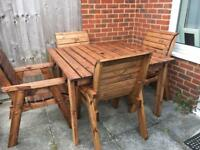 Garden furniture - table & 4 chairs