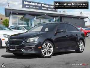 2016 CHEVROLET CRUZE 2LT RS LIMITED |NAV|ROOF|WARRANTY|30000KM