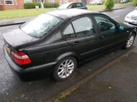 Black BMW e46 3 series 320d Saloon