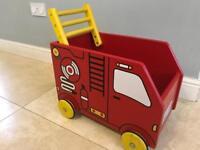 Fire engine walker/storage