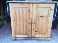 Pine Computer Cabinet