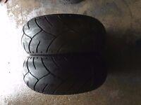 240/40/18 part worn bike tyres