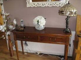 Elegant Laura Ashley Mahogany Console Table