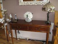 Elegant Laura Ashley Mahogany Console Table