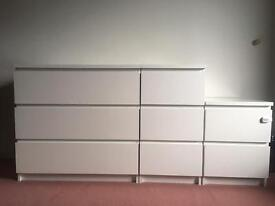 IKEA Malm drawers set all 3 for £50 or separate