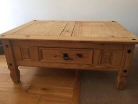Pine Coffee table with draw