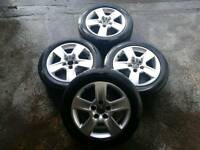 Audi A4 A6 Alloy Wheels 5x112 with tyres 205/55/16