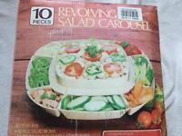 Revolving salad Carousel set 10 pieces brand new £5
