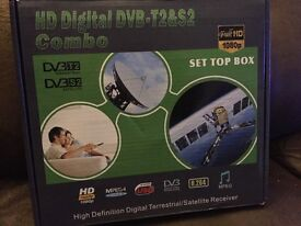 Twin Tuner Freeview HD + Satellite Receiver +RECORDER DIGITAL TV SetTop Digi Box