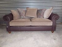 Beautiful Leather and Fabric 3-2-1 Suite (Sofa)