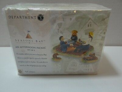 Dept 56 Seasons Bay An Afternoon Picnic Set of 3 NEW SEALED 56-53420