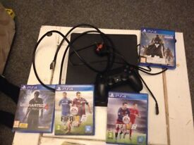 2ps4s for sale 4 games each and 1 controller