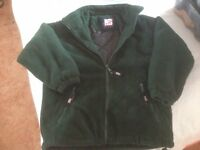 Bottle green fully lined and padded fleece jacket - Brand new - age 9 - 10
