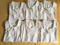 Girls white school polo shirts, age 9, from Tu Sainsbury's