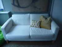 IKEA SOFA WHITE-DISMANTLED-WASHED COVERS READY TO GO! GOOD CONDITION