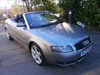 2005 AUDI A4 CABRIOLET 2.5 TDI S LINE AUTOMATIC DIESEL, FULL SERVICE HISTORY, DRIVES LIKE NEW