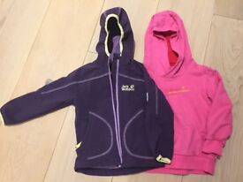 FIVE kids (girls) jackets for sale as a bundle