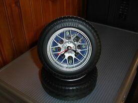 Novelty Racing Tyre Alarm Clock