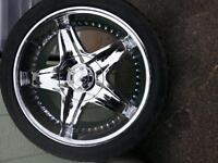 New Chrome Rims and Low profile tires