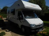 CI Carioca 656 (Fiat Ducato) 6 Berth Motor Home, 2.3 Diesel, Low Mileage, MOT until 17th March 2017