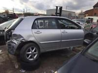 TOYOTA COROLLA CAR PARTS SPARES , BREAKING COROLLA SPARES