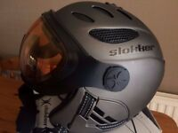 Ski Helmet with Visor Great Condition