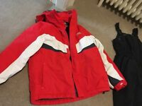Trespass Kids ski suit aged 7-8 salupettes and Ski Jacket, worn for two weeks.