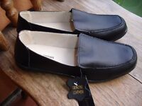 Ladies Black Leather Shoes ----size 7-----Brand New with Tags!